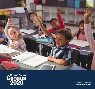 Children raising hands US Census