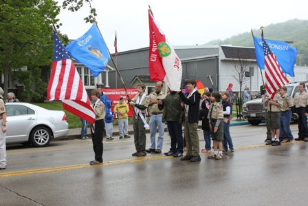 Flags in the parade